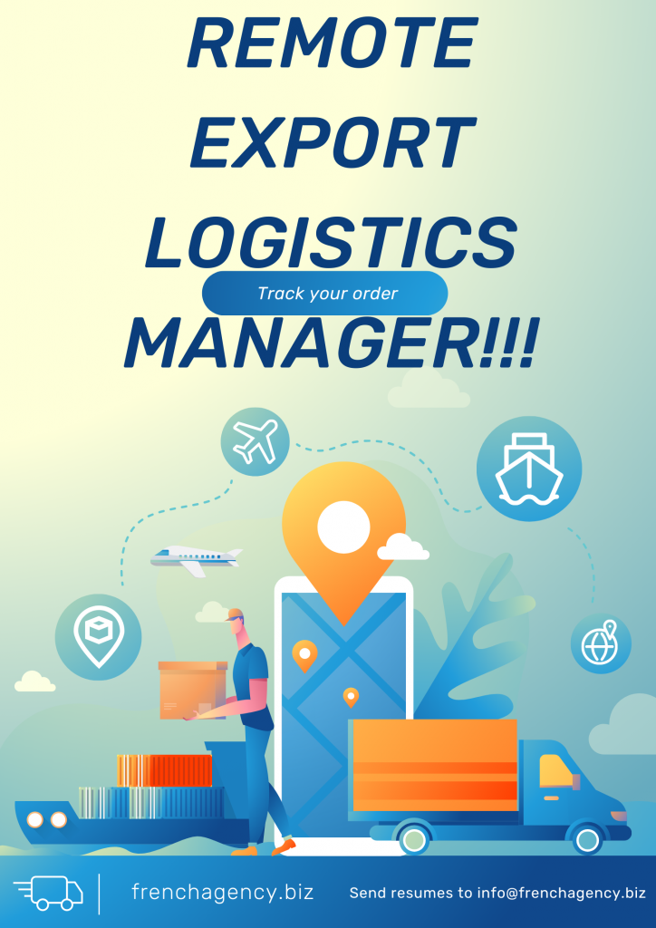 We are looking to hire an Export Logistics Manager with the following experience: 3 years or more in Exports Logistics Shipping over seas, railroads and on the road Communication with customers regarding shipments